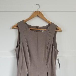 NWT AA Studio A Line Taupe Dress teaching dress wi
